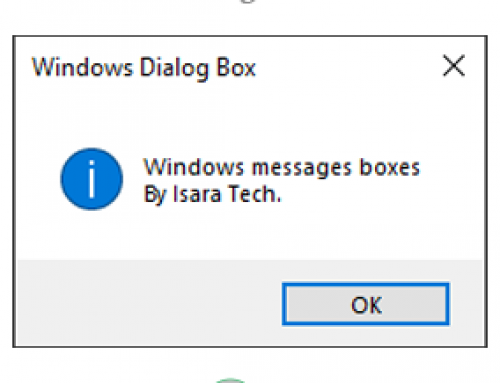 Windows Message Box